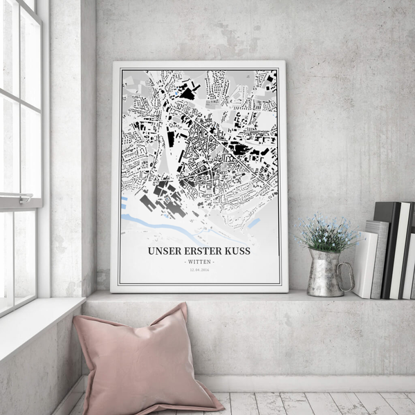 Stadtkarte Witten im Stil Schwarzplan