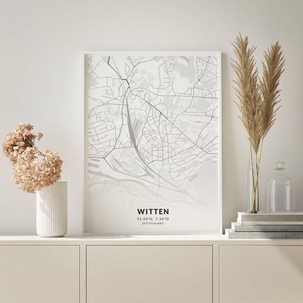 City-Map Witten im Stil Elegant