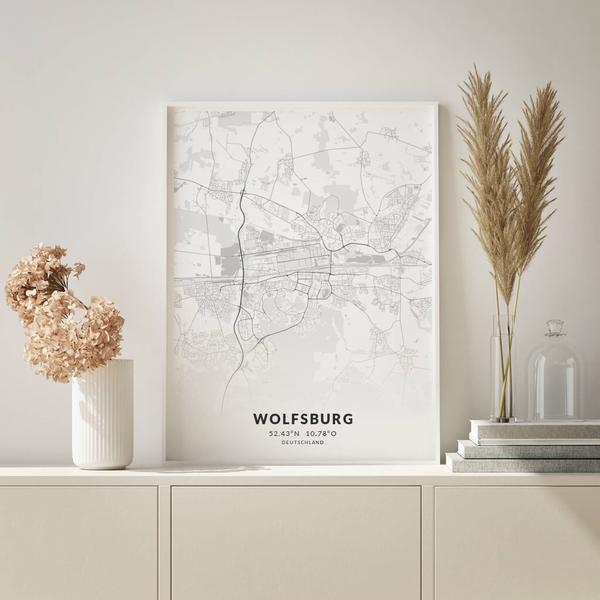 City-Map Wolfsburg im Stil Elegant