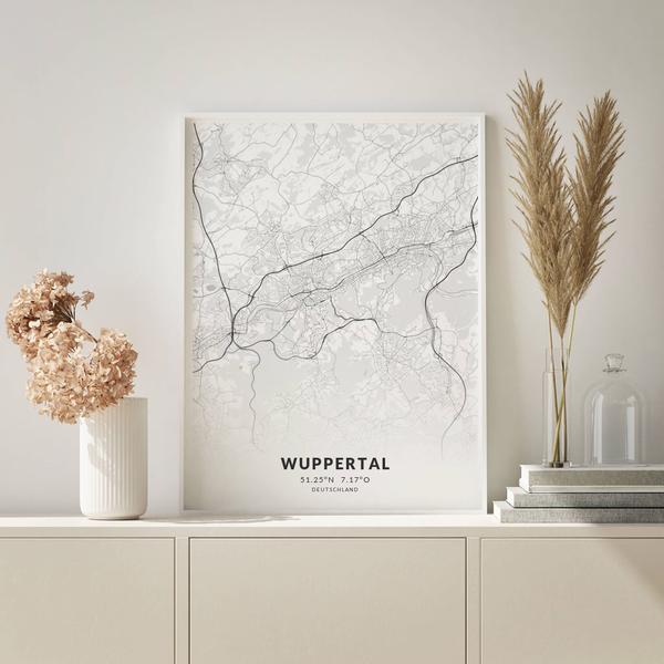 City-Map Wuppertal im Stil Elegant