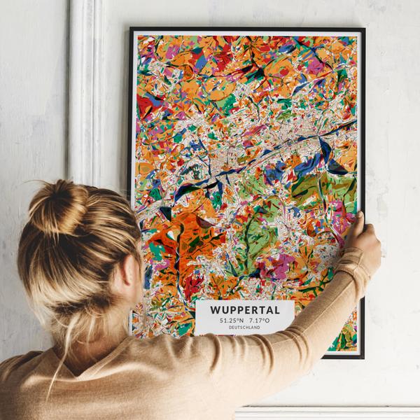 City-Map Wuppertal im Stil Kandinsky