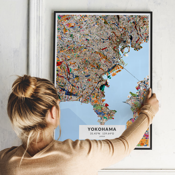 City-Map Yokohama im Stil Kandinsky