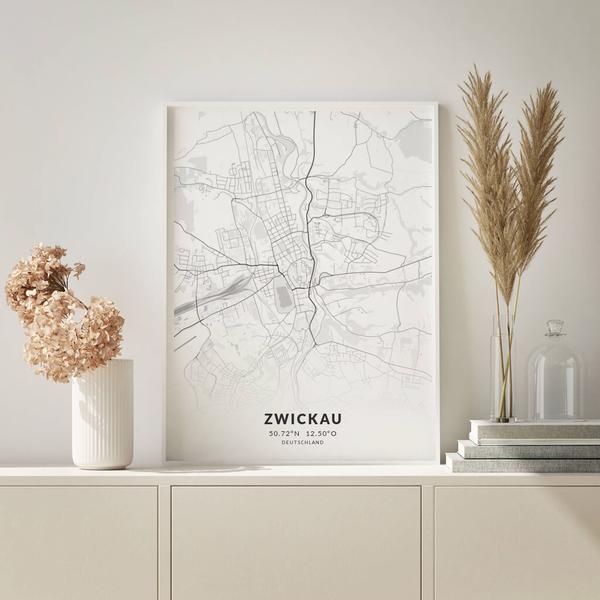 City-Map Zwickau im Stil Elegant